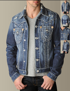 This distressed contrast stiched embellished pocket jean jacket for men has just distressed the shit out of my day.