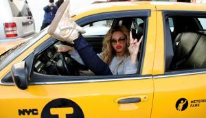 Beyonce in a cab? Damn right. That's where I belong too.