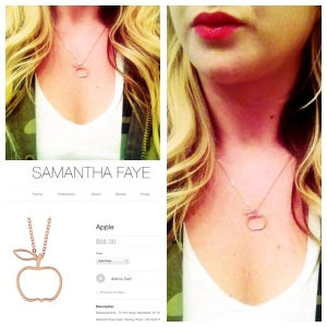 My apple necklace in rose gold.